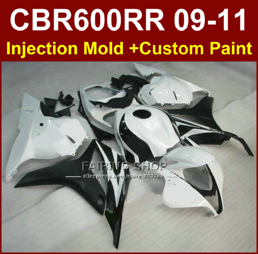 New white black customize fairing set for HONDA CBR600RR fairing kit 2009 2010 2011 cbr600 rr ABS bodykits CBR 600 RR 09 10 11