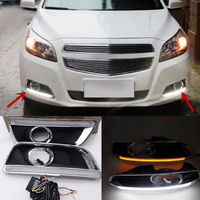 2PCS Daytime Running Lamp DRL LED Guides Fit For Chevrolet Malibu 2013 2015