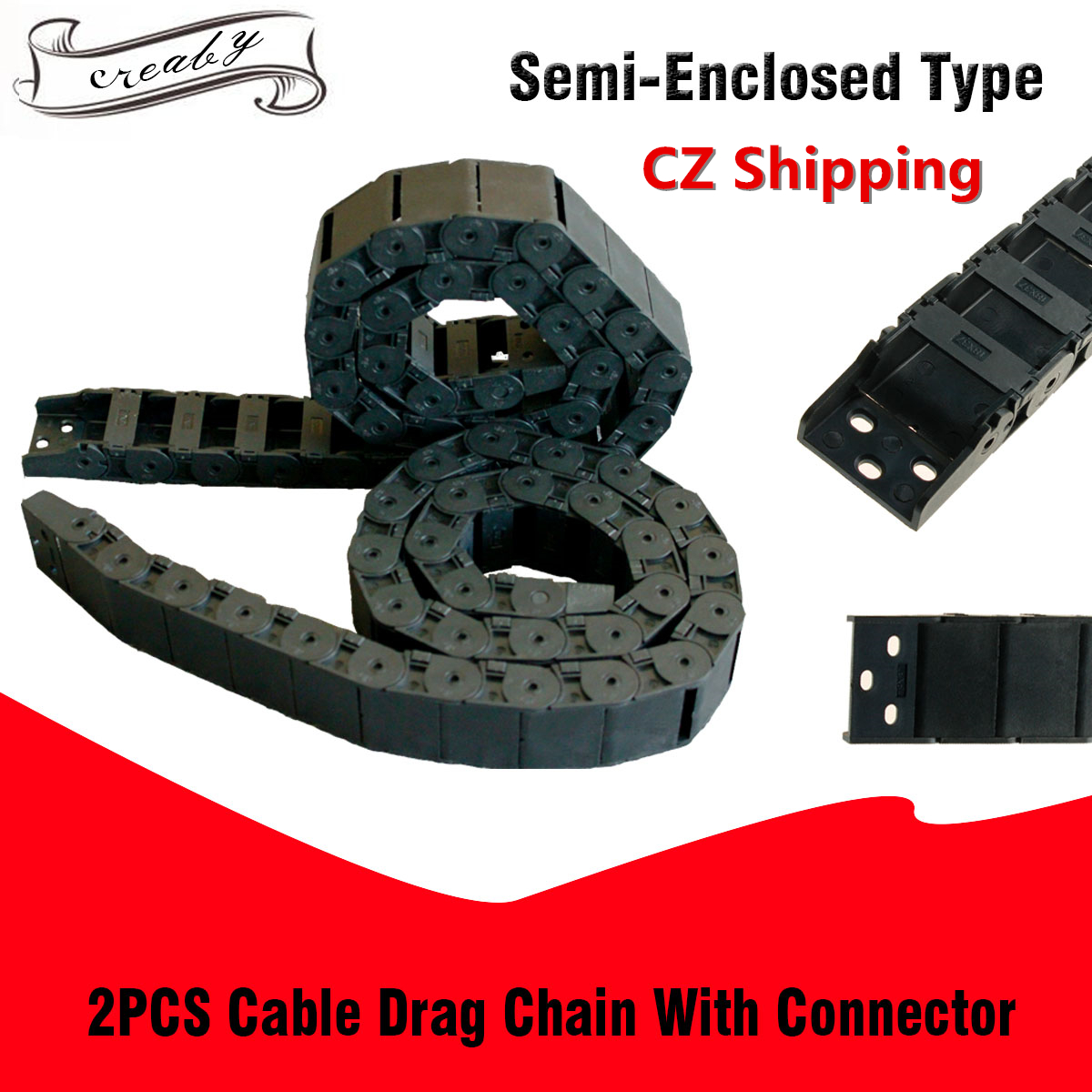 uxcell Drag Chain End Connector for 7x7mm Cable Carrier Chain Drag Chain Joints 10 Sets