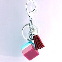 Liga de Zinco de Cristal de vidro Moda Coreana Fivela Acessórios Do Carro chaveiro em lote conjunto da cadeia de moda chave da cadeia de telefone Móvel 14