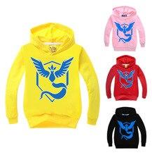 2-16Y Pokemon Go Hoodie Kids Hoodies Plus Boys Jacket Pikachu Costume Girls Long Sleeves Shirt Clothing Cartoon Printing Outwear