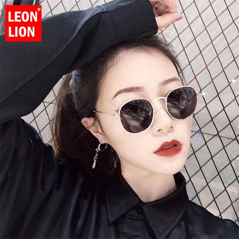 LeonLion 2019 Luxury Lustro okulary kobiety/mężczyźni marka dizajnerskie okulary okrągłe okulary słoneczne 1