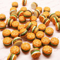 20PCS Mini Resin Hamburger 11mm Simulation Hamburger Miniatures Resin Flat Back Cabochon For Phone Decoden DIY Hair Bow Center