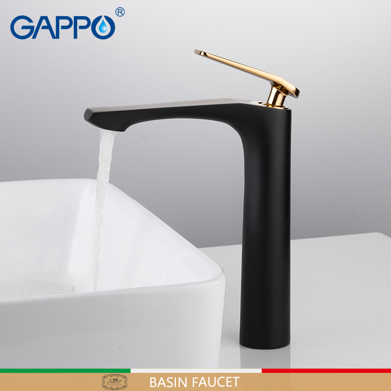 GAPPO basin faucets Black basin mixer faucet for bathroom sink faucets tall waterfall bathroom faucet mixer
