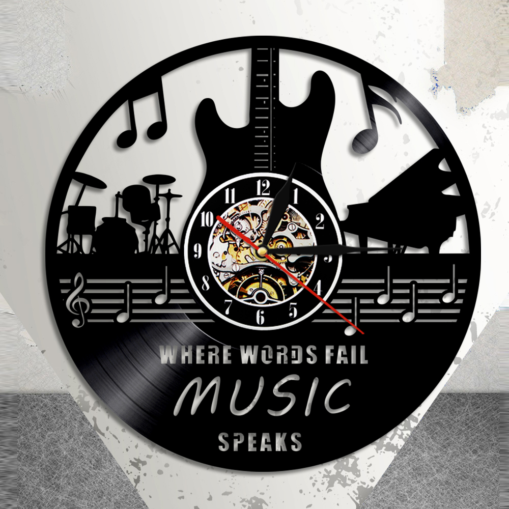 Where Words Fail Music Speaks Music Quote Wall Art Vinyl Record Wall
