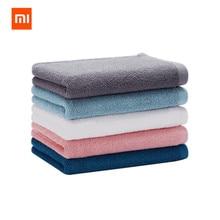 XIAOMI Mijia 32x70 см полотенце хлопок 5 цветов сильное поглощение воды банные мягкие и удобные пляжные полотенца для лица и рук