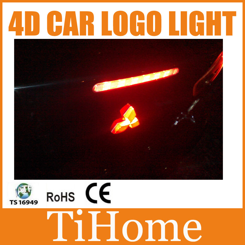 Free Shipping 4D LED Car LOGO Light car Emblem Badge Lamp/Light for Mitsubishi Lancer Galant Asx Outlander Zinger for mitsubishi outlander lancer 10 9 asx pajero sport l200 colt carisma app control car interior led atmosphere decoration light