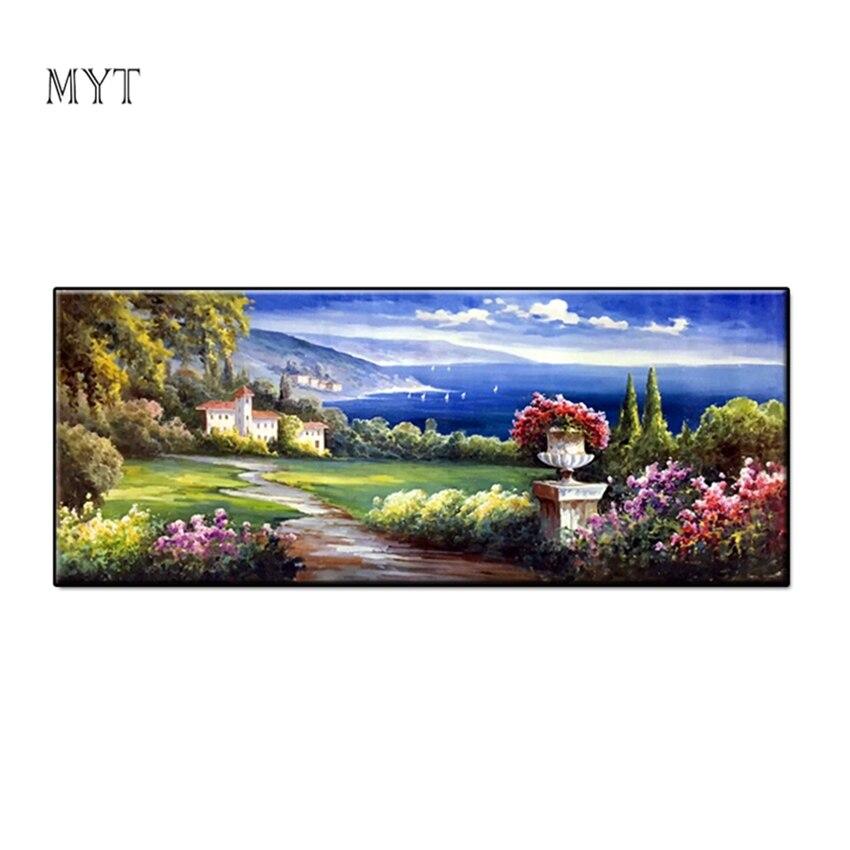 100% peinture à l'huile à la main sur toile meilleur paysage naturel pur peint à la main photos ou photographie décor à la maison Art mural sans cadre