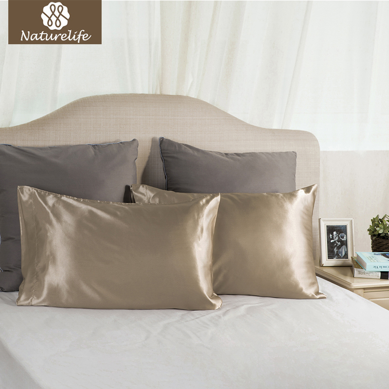 Naturelife Luxury Silk Satin Pillowcase Pillow Cover Skin