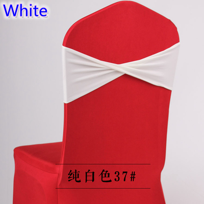 Colour White Spandex Sashes For Chair Covers Lycra Sashes Spandex Bands Bow Tie For Wedding Decoration Banquet Design Wholesale