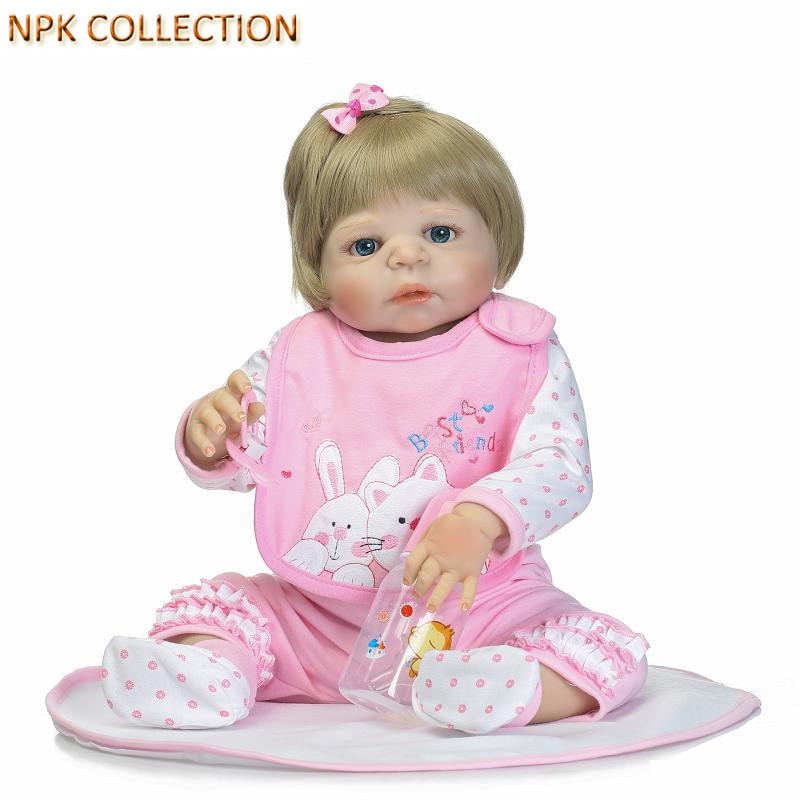 NPKCOLLECTION Silicone Reborn Dolls Baby Alive Girl Doll Toy for Children Gifts,21 Inch Real Dolls Newborn Baby Toys Brinquedos silicone reborn dolls baby alive doll soft toys for children christmas gifts 15 inch real reborn babies bonecas newborn dolls
