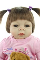 2015 NEW Hot Sale Lifelike Reborn Baby Doll Rooted Human Hair Fashion Doll Christmas Gift Lovely