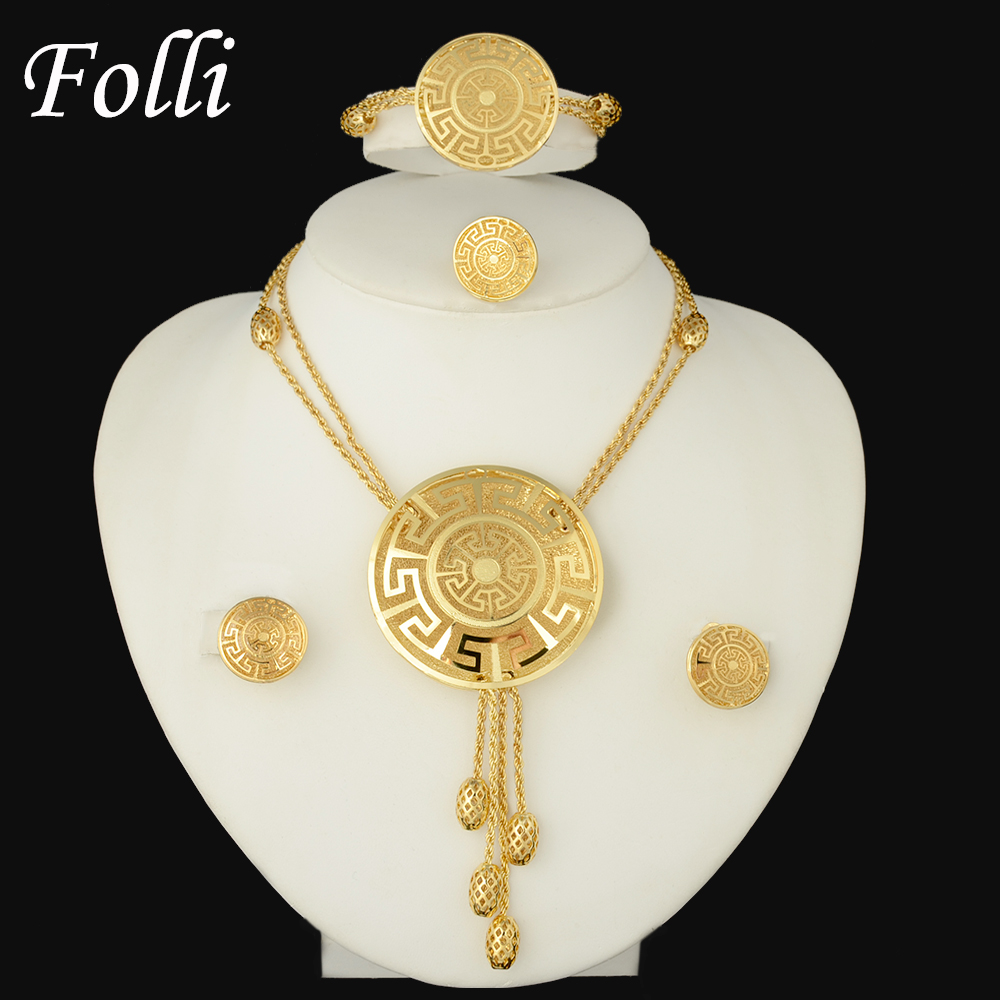 Kindlegem High Fashion Top Quality Pure Gold Color Pretty Dus
