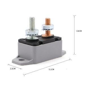 Image 5 - 1 Pcs DC6 28V 50A Auto Lkw Boot Audio/Batterie Ladegerät Verstärker Circuit Breaker Sicherung Halter Stereo Verstärker Refit Sicherung adapter