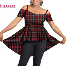 Hitarget African Ankara Women Print plain Dress Clothing Fashion Dresses for WY4326 african dresses women