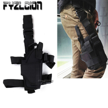 Tactical Drop Leg Platform Adjustable Pistol Right Thigh Gun Holster  Pouch Holder for Glock 17 19 31 32
