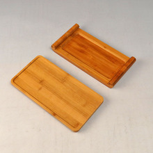 Bamboo Tea tray tea dish saucer Rectangular tea Monolayer Teapot mat Hand Made small wood tray natural  Crafts home decoration