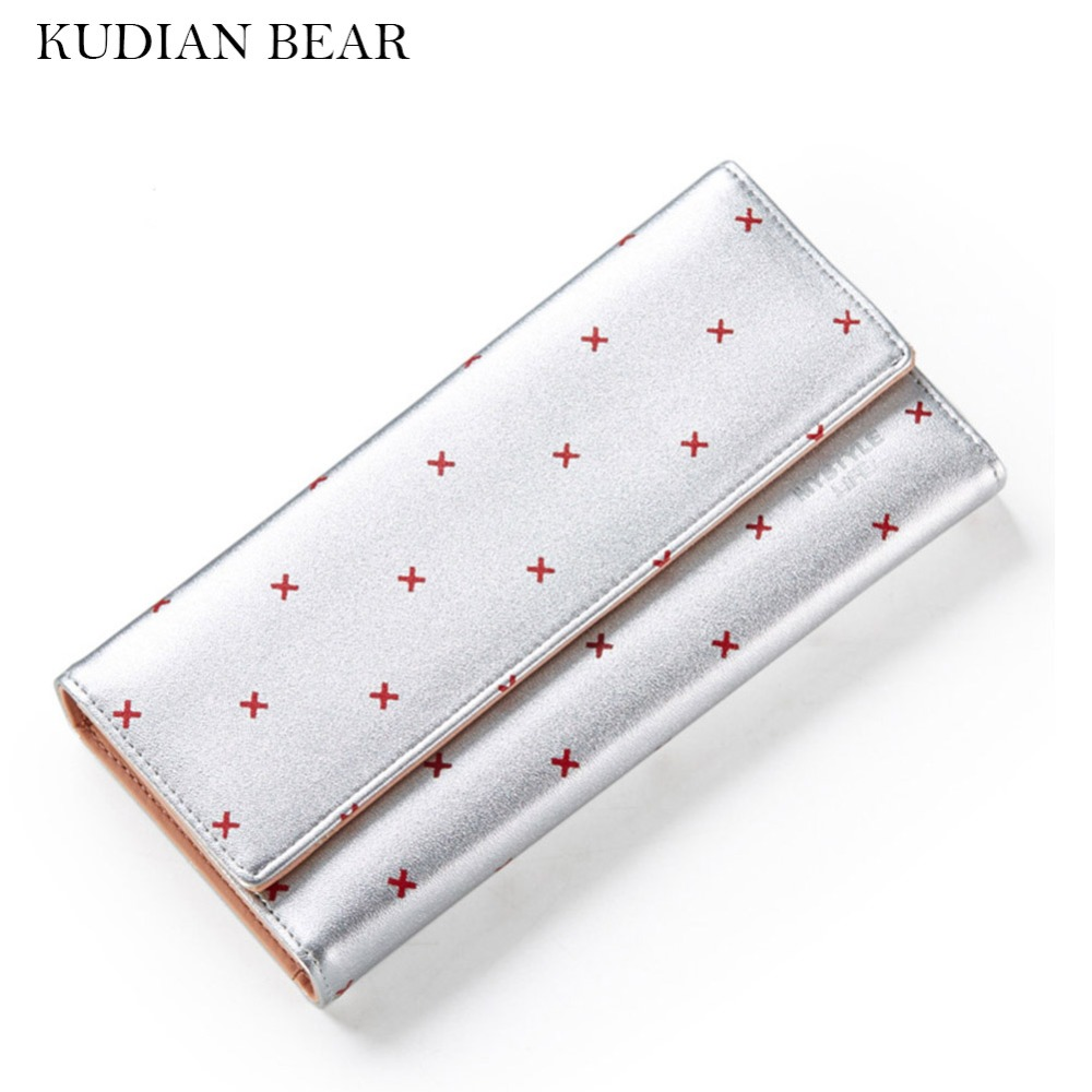 KUDIAN BEAR Wallet for Women Purses Matte Leather Casual Elegant Lady Portefeuille Femme-BIP033 PM49