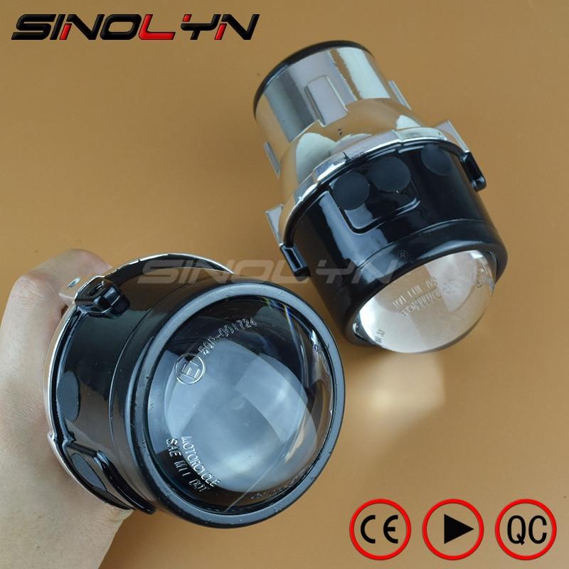 SINOLYN Metal Universal luzes de Nevoeiro Lente Do Projetor Lâmpadas de Condução do Amortecedor Dianteiro Aftermarket Retrofit de Iluminação Para O Carro Motocicleta