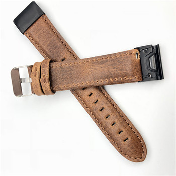 22mm 26mm Genuine Leather Quick Release Easy Fit Watch Band for Garmin Fenix 6X 5X Fenix5 6 fenix 3 Woven Strap Sports 11.20 stainless steel watch band 26mm for garmin fenix 3 hr butterfly clasp strap wrist loop belt bracelet silver spring bar