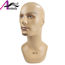 купить Free Shipping Fiberglass Abstact Male Mannequin Head For Sunglass Wig Hat Scarf  Display, Mannequins for VR Showcase Show дешево