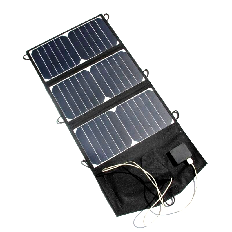 21W Portable Solar Charger Foldable Solar Mobile Charger For iPhone/Power Bank Dual USB High Efficiency & Quality Free Shipping bp 15000mah 1 1lcd high quality portable mobile power bank for iphone 5s samsung htc