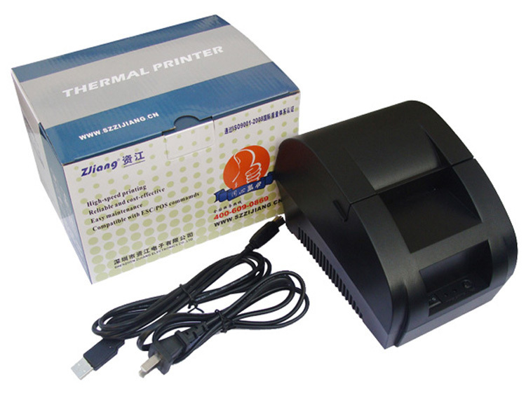 ФОТО Free shipping   USB Port 58mm thermal Receipt pirnter POS printer low noise printer