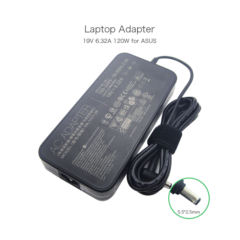 19V 6.32A 120W AC Adapter for ASUS K53SV N46 N56 N76 G74SX ADP-120ZB BB PA3290E-3AC3 PA-1121-04 PA-1121-28 Laptops Power Charger 120w ac power adapter charger for hp ppp016l e pa 1121 42hq ppp016c ppp016h pc charger 18 5v 6 5a