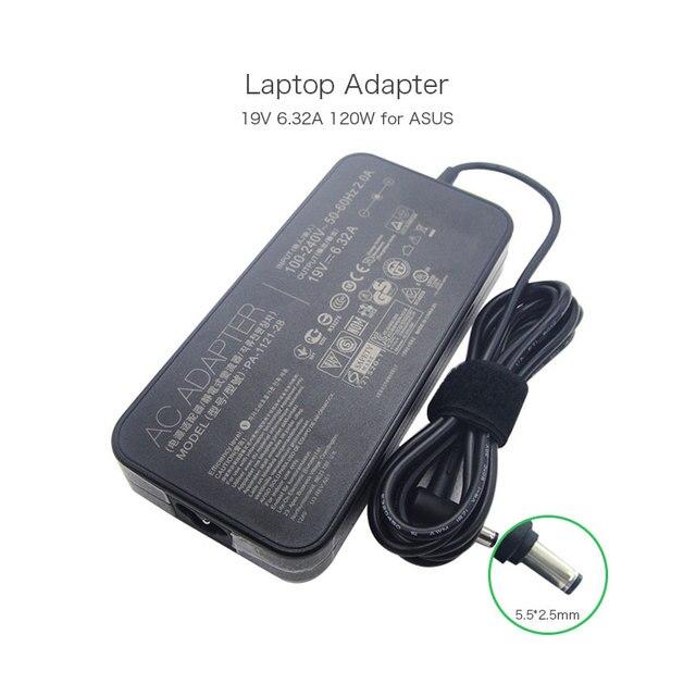 19V 6.32A 120W AC Adapter for ASUS K53SV N46 N56 N76 G74SX ADP-120ZB BB PA3290E-3AC3 PA-1121-04 PA-1121-28 Laptops Power Charger