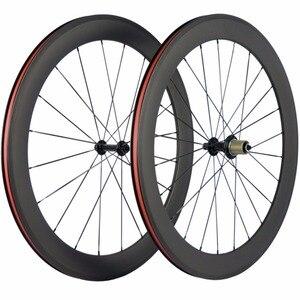 Image 4 - Paire de roues de vélo en carbone Ultra léger 38/50/60/88mm roues de pneu en carbone roue de vélo de route tubulaire Surface de freinage en basalte