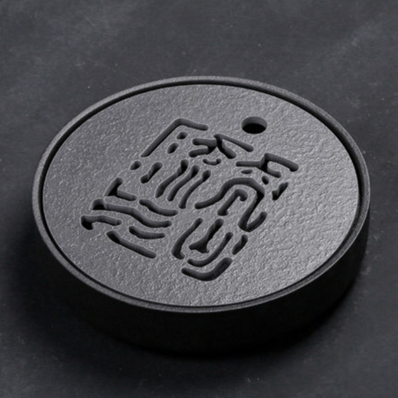 PINNY Japanese Style Black Stone Ceramic Tea Tray 25 5 5 5cm Kung Fu Tea Board
