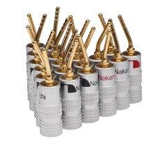 20 adet/takım 2mm Pin hoparlör muz fiş altın kaplama tel kablo konektörü ses HiFi müzik hoparlör adaptörü