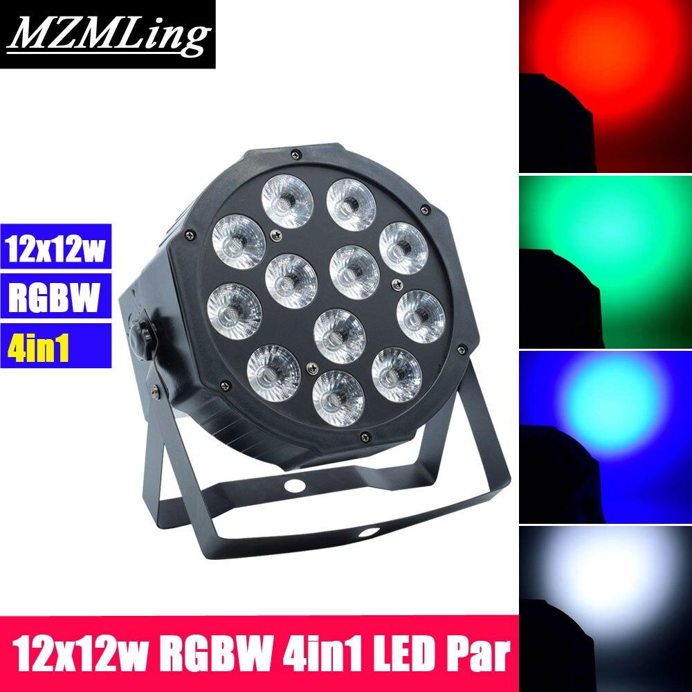 12x12w RGBW 4in1 LED Par Light Professional DJ /Bar /Party /Show /Stage Light LED Stage Machine 54x3w led rgbw monochromatic par light dmx512 professional dj bar party show stage light led stage machine