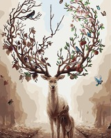 Hand painted oil painting frameless painting living room decorative painting elk 40*50 A401