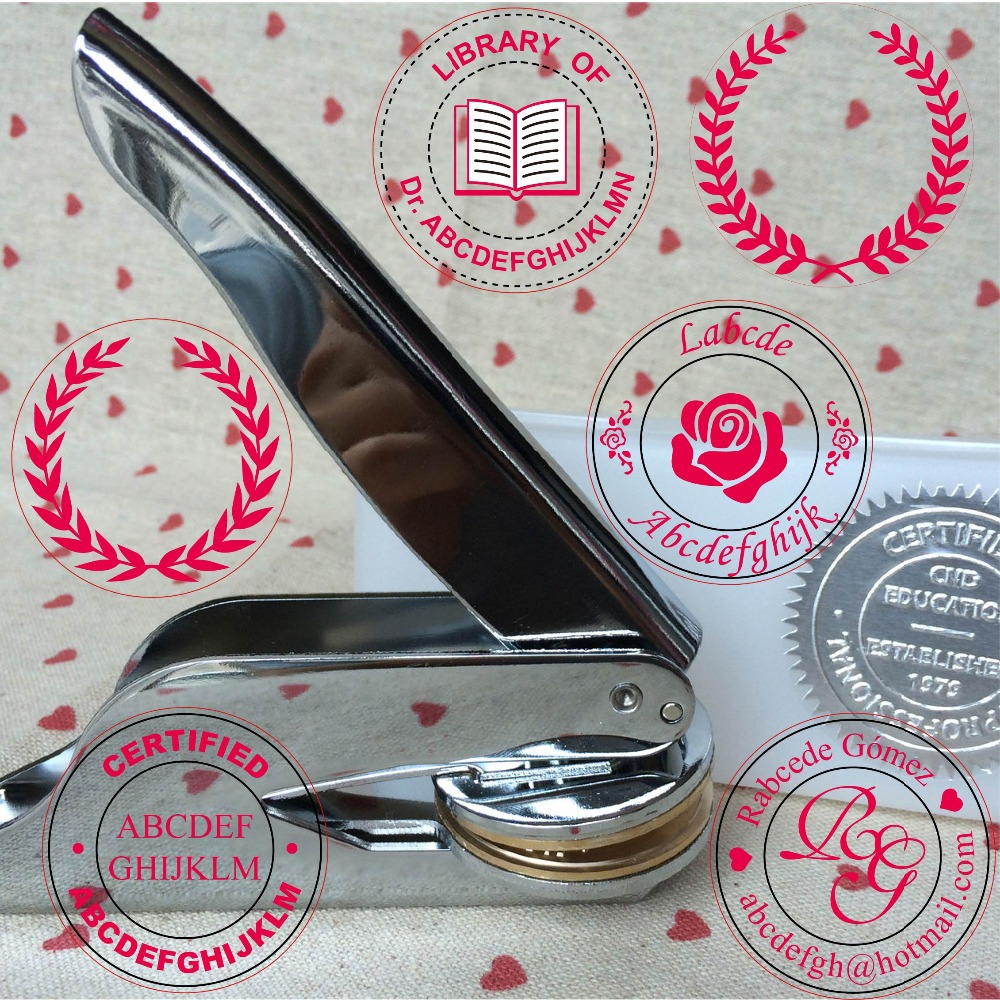 Hot Customize Embossing Stamp Personal Logo,Personalized Embossing Seal For Letter Head Wedding Envelope Gaufrage Stamp 270logo