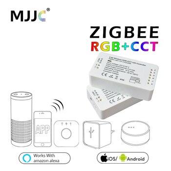 Zigbee RGBW RGB LED Denetleyici LED Şerit Için DC12V/24 V Zigbee Zll Bağlantı Akıllı Şerit Işık RGB APP kontrol Uyumlu LED ECHO