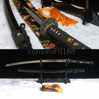Free stand +HAND FORGED 1095 HIGH CARBON STEEL JAPANESE SAMURAI SWORD KATANA FULL TANG BLADE