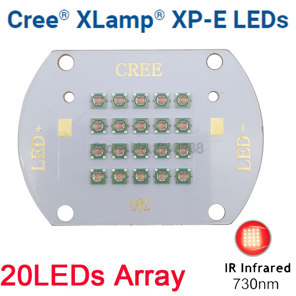 CREE XLamp XPE XP E Far Red 730nm Plant Grow LED Light Diode Emitter Light 20LED Multi Chip Array for Indoor Garden Plant