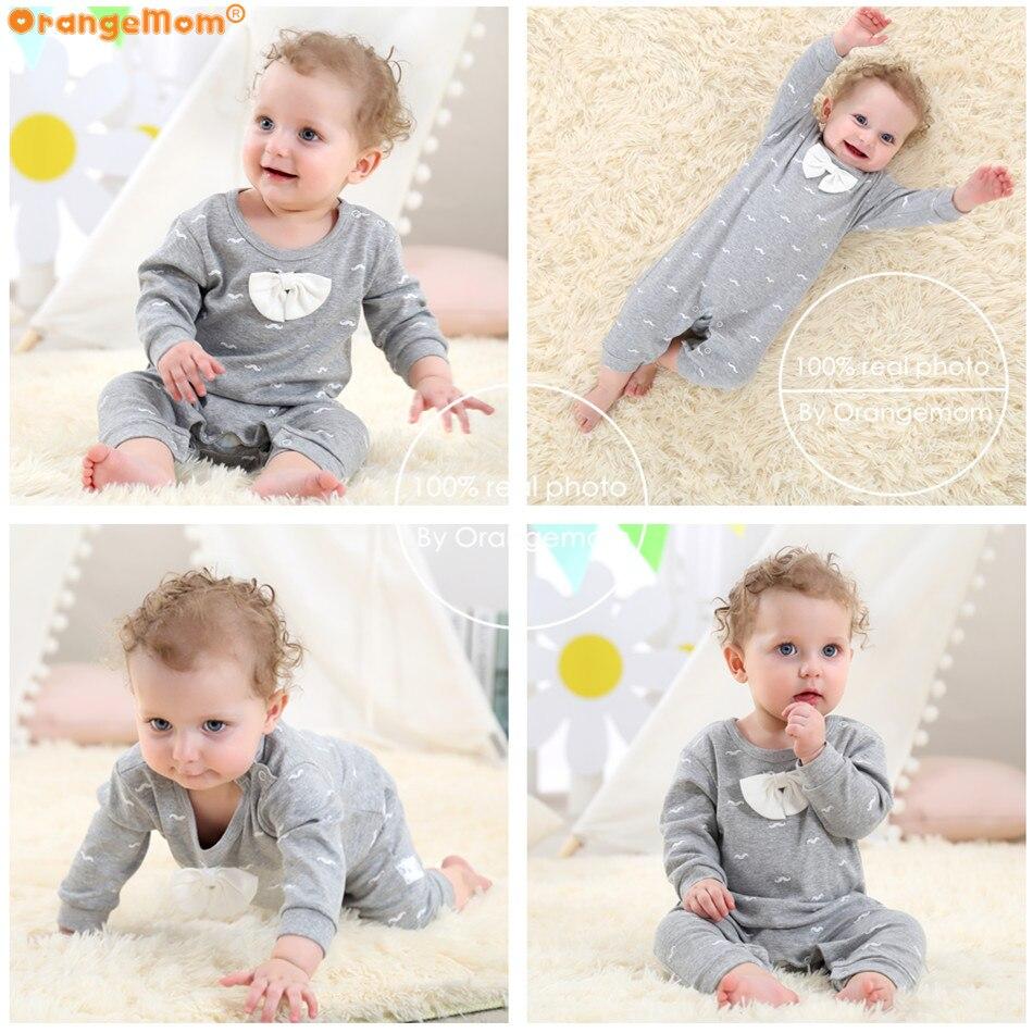 2018 spring - Autumn baby boy clothing Cotton Long Sleeved baby boy clothes ,cartoon Beard Gentleman baby romper Infantil babies