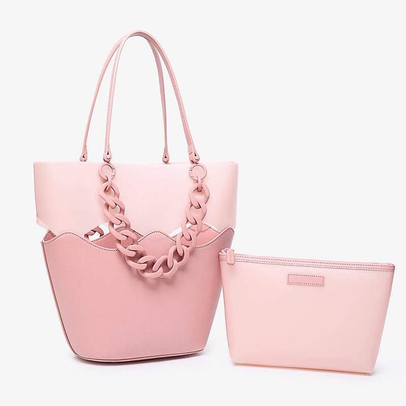 Simple Fashion Women Handbags Large Capacity Korean Ladies Composite Bags Shopping Travel Hand Bag Women s