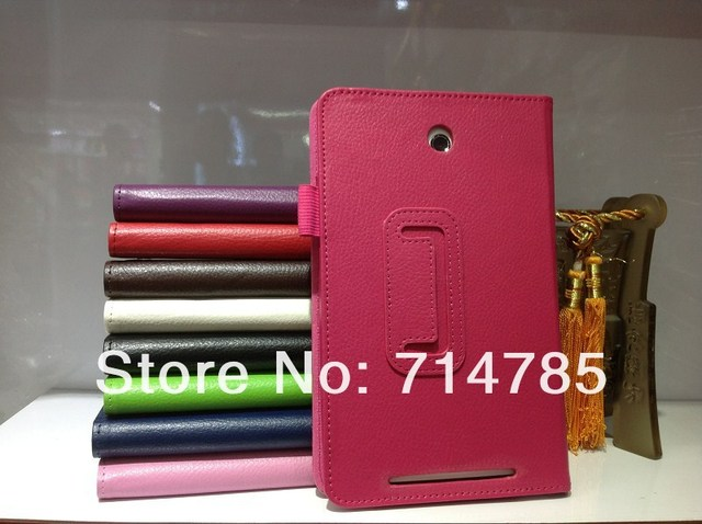 Protective shell Litchi Skin Folio PU Stand Leather Magnetic Case Cover for ASUS MeMO Pad HD 7 ME173X,Free shipping