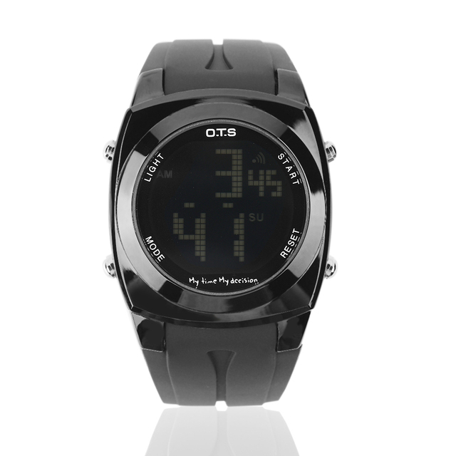 Top Brand New Men Original Creative Style Younger Date Alarm Waterproof Sports watch LED Digital Rubber Luminous Wrist Watch