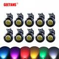 GEETANS DRL 10 piezas LED ojo de águila del coche de la luz de niebla luces de marcha diurna 18 MM 23 MM copia inversa señal de luz de estacionamiento se