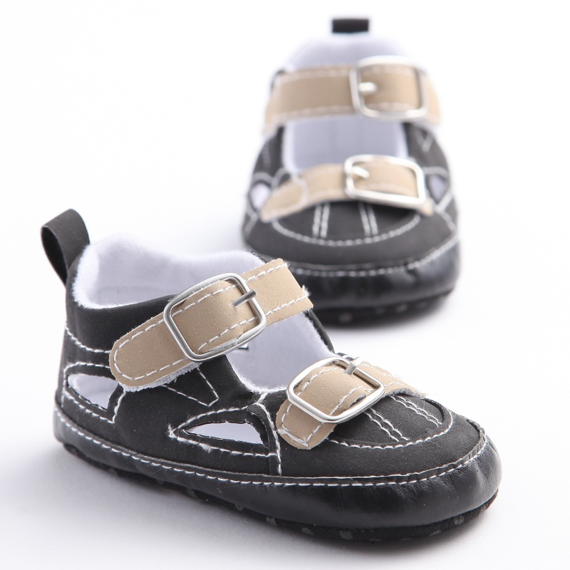 Summer Breathable Toddler Baby Boys Casual Soft Frosted PU Shoes Infant Anti-slip Prewalker Sandal