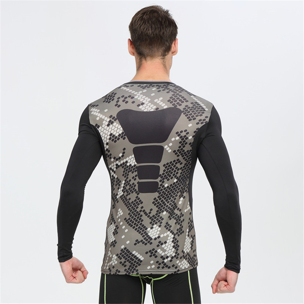 4ce2a8404b Compression Shirts Bodybuilding Skin Tight Long Sleeves Jerseys Crossfit  Exercise Workout Fitness MMA Rashguard Camouflage