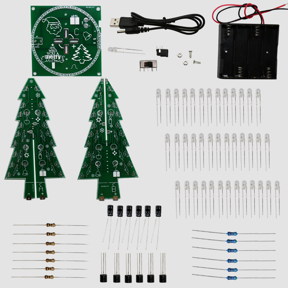 2016 Newest Colorful RGB Christmas Trees Led Electronic Diy Kit For Christmas Gift/New Year Gift