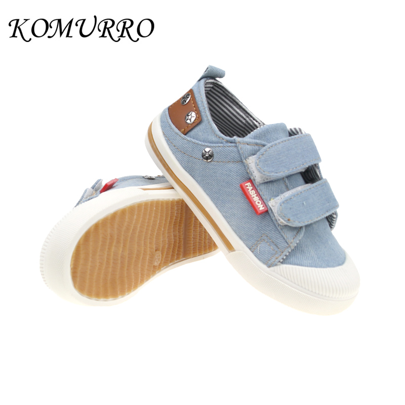 Kids Canvas Shoes Boys Children Denim Anti-Slippery Casual Shoes