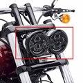 "Harley Lámpara Led 5 ""Doble doble Motocicleta Daymaker Proyector LLEVÓ la Linterna Para Fits '08-más tarde Harley Bob FXDF Daymaker Faro"