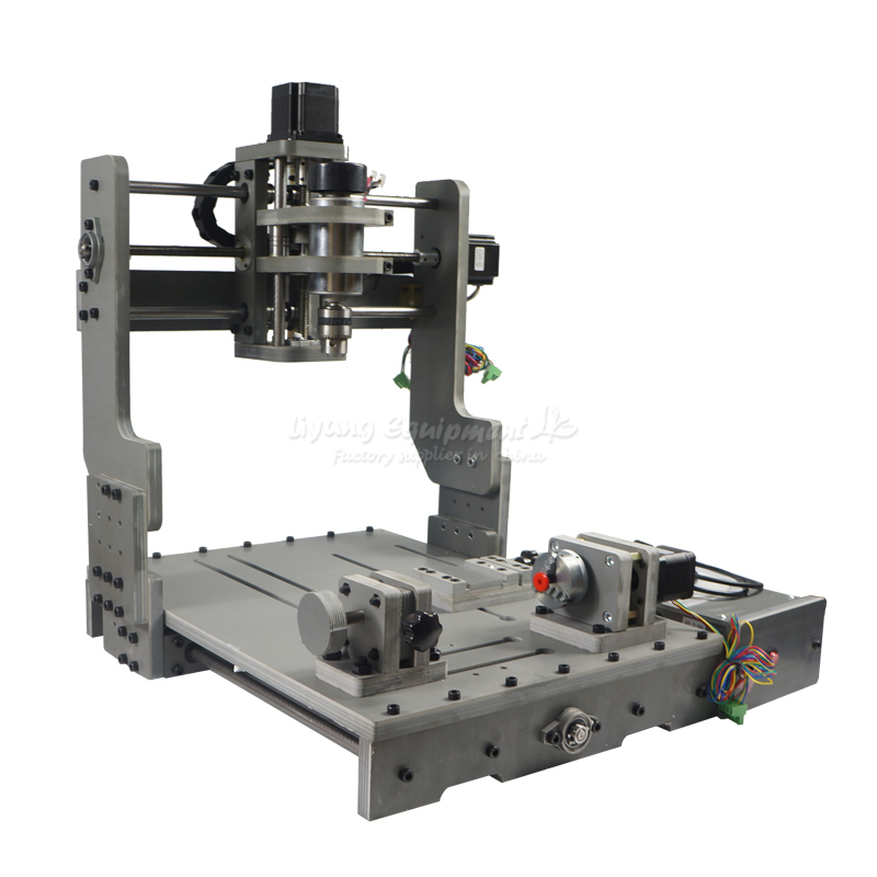 300W CNC 3040 300 DC power spindle motor CNC engraving machine drilling router with rotary axis, free tax to Russia free tax to russia 4 axis cnc 3040 z dq cnc engraving machine with ball screw design support 3d cnc router engraver