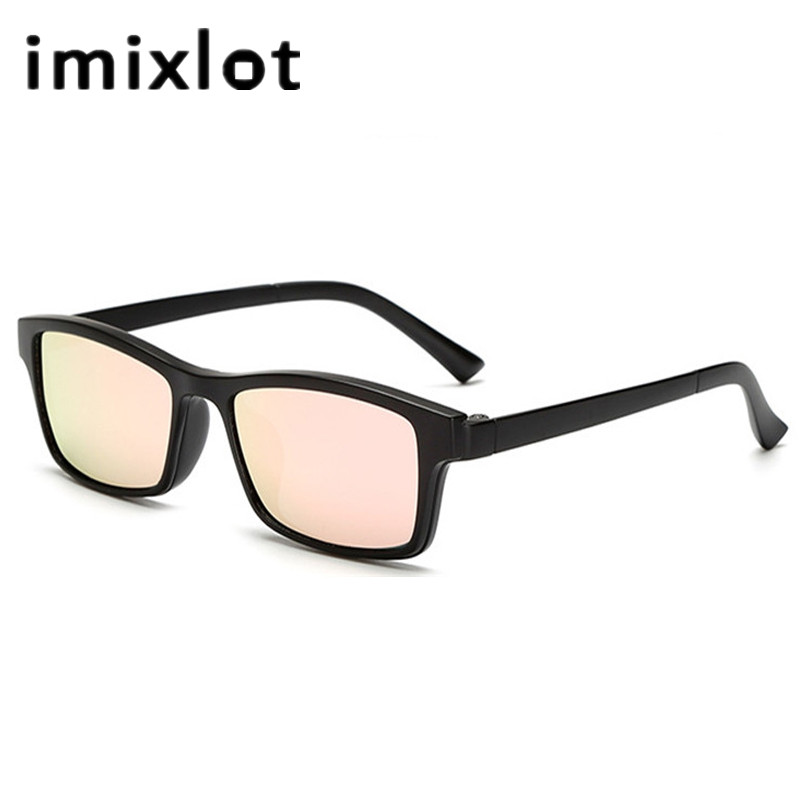 b5f37c91ef IMIXLOT Men Night Driving Polarized Prescription Sunglasses Magnetic Clip  On Glasses Vintage Goggle Oculos De Sol with Package-in Sunglasses from  Apparel ...